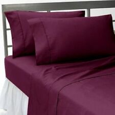 "15""to30"" Deep Pkt Bedding Items 1000TC Egyptian Cotton Wine Solid AU Size"