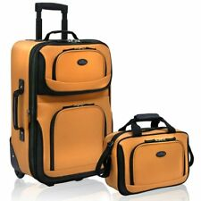 """Two Piece Expandable Carry-on Bag Rolling Wheel Travel Luggage Set (15"""" and 21"""")"""