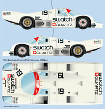 1984 Brun Swatch Porsche 956 waterslide decals for Tamiya and other scales