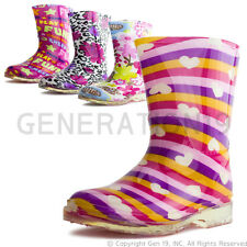 New Toddler Girls Fashion Rubber Comfort Rain Boots 77B2 (Toddler 5 6 7 8 9 10)