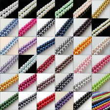 """30"""" One Strand Approx 200pcs Per Lot 4MM Round Ball Loose Glass Pearl Spacer"""