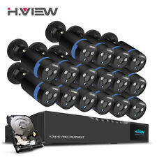 HView 1080P Home Security Camera System 16CH CCTV DVR Video Surveillance Kit 2TB