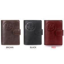 HANDMADE | Credit Card Genuine Leather Mens Passport Holder Wallets Man Cowhide