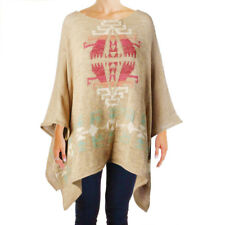 NWT RALPH LAUREN Linen Tan Beige Boat Neck Poncho Coat Sweater $225