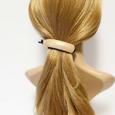 Cellulose acetate decorated half moon hair jaw claw clip