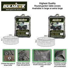 BULHAWK ROUND GARDEN OUTDOOR TABLE COVER WATERPROOF SUPERIOR QUALITY FURNITURE