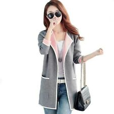 Long Trench Coat Big Size Knitted Open Stitch Female Trench Coat Windbreaker Car