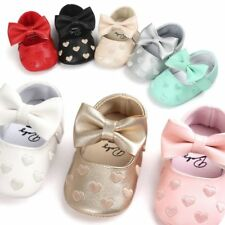 Toddler Baby Girl Crib Shoes Newborn Bowknot Soft Sole Anti-slip Sneakers 0-18M