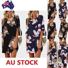 Women Summer Half Sleeve Floral Dress Evening Party Cocktail Beach Mini Dress