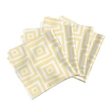 Home Dec Retro Modern Organic Square Cotton Dinner Napkins by Roostery Set of 4