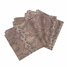 Damask Silk Tapestry Pomegranate Cotton Dinner Napkins by Roostery Set of 4