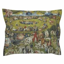 Fine Art Garden Medieval Painting Paradise Fantasy Pillow Sham by Roostery