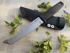 C Steel 17T Kobun Straight Knife Tanto Point Satin Fixed Blade Hunting Knives