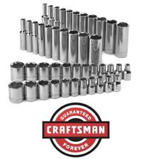 """Craftsman 1/4"""" Socket Set Your Choice Shallow Deep - SAE Inch Metric MM 6 Point"""