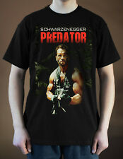 PREDATOR Movie Poster ver. 3 Arnold Schwarzenegger T-Shirt (Black) S-5XL