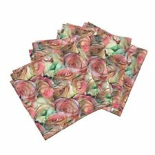 Roses Flowers Floral Romantic Cotton Dinner Napkins by Roostery Set of 4