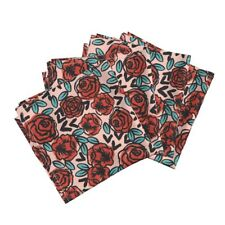 Roses Valentines Florals Red Roses Cotton Dinner Napkins by Roostery Set of 4