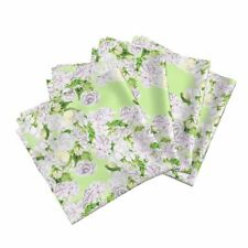Roses Floral Watercolor Mint Cotton Dinner Napkins by Roostery Set of 4