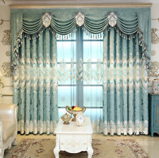 European Double embroidered Deluxe Bedroom cloth curtain valance N285