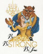 Cross Stitch Pattern, Disney's Beauty & Beast Be Brave Counted Cross Stitch Kit