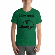 I Sleep Around, Teardrop Camper - Short-Sleeve Unisex T-Shirt