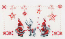Christmas Cross Stitch Pattern, Christmas Elves Counted Cross Stitch Kit