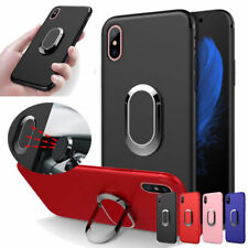 360° Rotation Magnetic Car Mount Holder Soft TPU Phone Case Cover For iPhone X