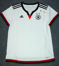 Adidas Women's Germany Home Soccer Jersey, S08259, White/Black/Red, US Size M