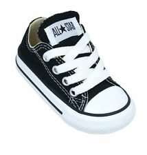 Converse Chuck Taylor All Star Ox Top Black White Infant Toddler Boy Girl Shoes