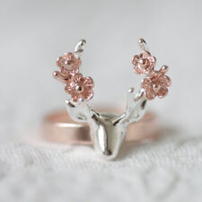 Women Classy Antlers 18K Gold Filled  Wedding Engagement Anniversary Ring Sz6-10