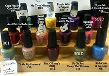 OPI NAIL POLISHES SOME DISCONTINUED COLORS - GREEN LABEL - YOUR CHOICE LOT