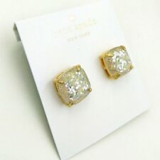 Kate Spade New York Faceted Square Stud Earrings, gold tone,shimmering color