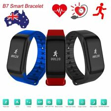 Bluetooth Smart Watch Blood Pressure Band Wristband Sport Pedometer Bracelet