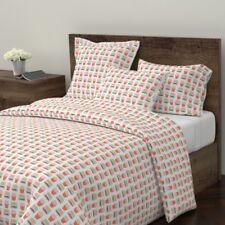 Burger Hamburger Cheeseburger French Fries Fast Sateen Duvet Cover by Roostery