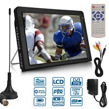 12'' Portable Analog TV Swivel DVD Player DVB-T2  HD TFT GAME Digital Television