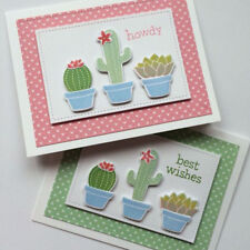 Cactus Clear Stamps + Metal Cutting Dies Stencils Scrapbooking Embossing Crafts
