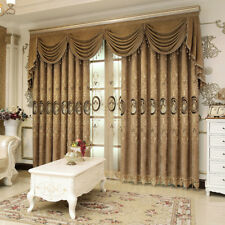 water soluble embroidered velvet luxury chenille coffee curtain valance N340