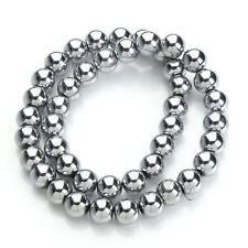 40cm/strand 6/8/10mm silver Color Round Hematite Beads (Not Magnetic) Fits DIY