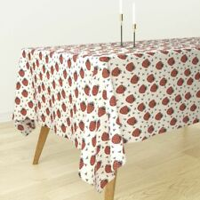 Tablecloth Strawberry Summer Strawberries Fruit Sweets Fruits Cotton Sateen