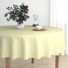 Round Tablecloth Lace Yellow Yellow Lace Easter Cotton Sateen