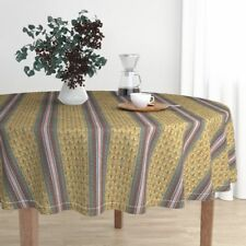 Round Tablecloth Gothic Paris Religious Church Notre Dame French Cotton Sateen