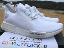New Adidas NMD R1 PK Primeknit Tokyo Japan Triple White BZ0221 Mens Shoes 9-13