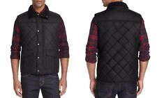 Barbour Boxley Quilted Waxed Cotton Gilet Vest Black NWT MSRP $279
