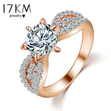 Silver / Rose Gold Cubic Zirconia Ring - New Cheap Wedding Ring