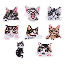 MagiDeal Embroidery Animal Cat Sew Iron On Patch Badge Fabric Applique DIY Craft