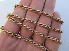 CHUNKY VINTAGE 9ct GOLD HM LONDON 1989 ROPE TWIST CHAIN 19.75 INCH 6.2 GRAMS
