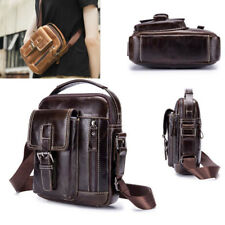 Men's Small Shoulder Leather Bags Handbag Crossbody Messenger Satchel Tablet Bag