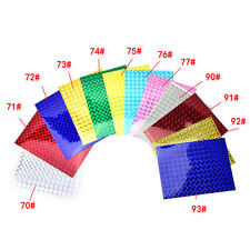 4X 10cm X 20cm Holographic Adhesive Film Flash Tape For Lure Making Fly Tying .