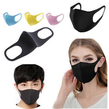 3Pcs Cycling Anti Dust Haze Sponge Mouth Face Mask Respirator Adult Kid Reusable