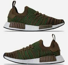 ADIDAS NMD R1 STLT PRIMEKNIT CASUAL MEN's TRACE OLIVE - CORE BLACK - SOLAR SLIME